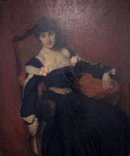 Edmond Aman-Jean, Ritratto della signora Grant | Portrait de Madame Grant | Portrait of Mrs. Grant, Muzeul Naţional de Artă al României, Bucureşti, România