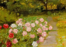 Anna Ancher, Peonie e calendule (Pæoner og morgenfruer), 1887