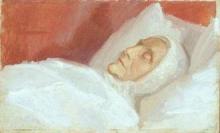 Anna Ancher, Ritratto della madre morta (Portræt af den døde mor)