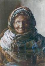 Anna Ancher, Ritratto di una donna anziana (Portræt af en gammel kone), 1880