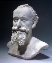 Zacharie Astruc, Édouard Manet, XIX-XX secolo, Modello originale del busto in bronzo appartenente alla famiglia Astruc, cm. A. 39 x L. 43 x P. 25, Angers, Musée des Beaux Arts, inv. n. MBA 1103, Dono degli eredi Astruc