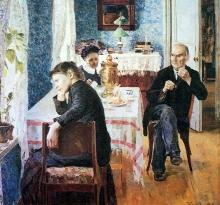 Vasiliy Nikolayevich Baksheyev: La prosa di ogni giorno, 1892-1893, Olio su tela, cm. 68 x 73, Mosca, Galleria Tretyakov