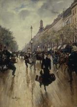 Jean Béraud, Le quattro del pomeriggio, il crocevia Drouot ed il gran boulevard | Quatre heures de l'après-midi, le carrefour Drouot et le grand boulevard, 1895