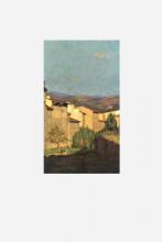 Odoardo Borrani, Case lungo il Mugnone, 1880 circa