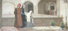 Odoardo Borrani, Dante alla tomba di Beatrice, 1865 circa