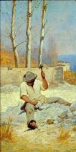 Odoardo Borrani, Lo spaccapietre, 1880