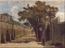 Odoardo Borrani, Vecchie mura di Firenze