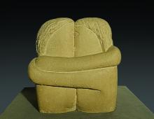 Costantin Brancusi, Sărutul | Il bacio | The kiss | Le baiser, 1907, Taglio diretto in pietra di marna, Muzeul de Artă, Craiova