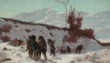 Stefano Bruzzi, Cacciatori, XIX-XX secolo, Dipinto