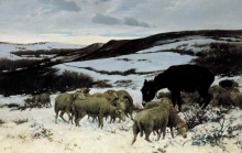 Stefano Bruzzi, La mandria sperduta, 1881, Dipinto, Collezione privata