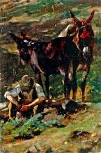 Stefano Bruzzi, La sosta, XIX secolo, Dipinto