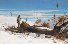 Stefano Bruzzi, Lo spaccalegna, XIX secolo, 1873, Dipinto