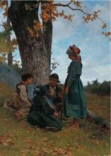 Stefano Bruzzi, Novembre, XIX secolo, 1880, Dipinto