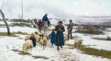 Stefano Bruzzi, Stagione rigida, XIX secolo, Dipinto