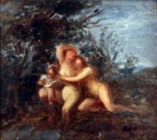Giovanni Carnovali (detto il Piccio), Figure nude, 1856-1858, Raccolte Frugone, Genova
