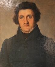 Giovanni Carnovali (detto il Piccio), Ritratto del signor Sonzogni, Museo Civico Ala Ponzone, Cremona, Italia
