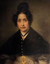 Giovanni Carnovali (detto il Piccio), Ritratto della signora Cadolini, Museo Civico Ala Ponzone, Cremona, Italia