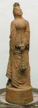 Adriano Cecioni (attribuito a), Cocotte, XIX secolo, terracotta, cm. 51 di altezza, Collezione privata