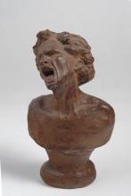 Adriano Cecioni, Busto, XIX secolo, terracotta, 16 cm. di altezza, Collezione privata