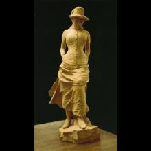 Adriano Cecioni, Colpo di vento, 1880-1881, terracotta, Firenze, Palazzo Pitti, Galleria d'Arte Moderna