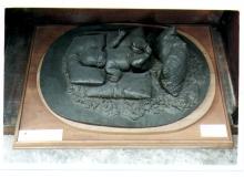 Adriano Cecioni, Figura maschile distesa, XIX secolo, 1850 - 1874 ante, gesso / bronzatura, 20 (altezza) x 45 (larghezza) x 66 (lunghezza) cm, Napoli, Museo di Capodimonte, Codice ICCD 15 00327449