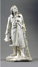 Adriano Cecioni, Il cacciatore delle Alpi, XIX secolo, marmo, cm. 105 di altezza, Collezione privata