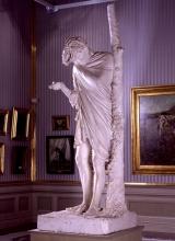 Adriano Cecioni, Il suicida, XIX secolo, 1865-1867, gesso, cm. 217 di altezza, Firenze, Palazzo Pitti, Galleria d'Arte Moderna, Codice ICCD 09 00342196