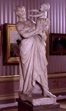 Adriano Cecioni, La madre, XIX secolo, 1878-1879, gesso, cm. 182  di altezza, Firenze, Palazzo Pitti, Galleria d'Arte Moderna, Codice ICCD 09 00342191