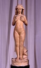 Adriano Cecioni, Nanà, XIX secolo, 1881 circa, terracotta, cm. 41 di altezza, Firenze, Palazzo Pitti, Galleria d'Arte Moderna, Codice ICCD 09 00342188