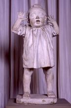 Adriano Cecioni, Primi passi, 1868-1869, gesso, cm. 73 di altezza, Firenze, Palazzo Pitti, Galleria d'Arte Moderna, Codice ICCD 09 00342201