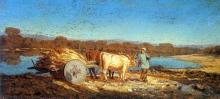 Giovanni (Nino) Costa, Bovi al carro, 1860