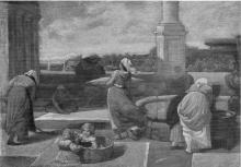 Giovanni (Nino) Costa, Donne in piazza ad Ariccia, 1852