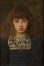 Giovanni (Nino) Costa, Ritratto di Giorgia bambina, 1882 circa, Collezione privata