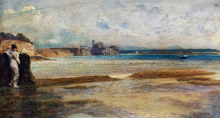 Giovanni (Nino) Costa, Tramonto della luna sul mar Tirreno, XIX secolo