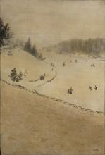 Giuseppe De Nittis, Campo di neve, 1880 circa, Collezione privata