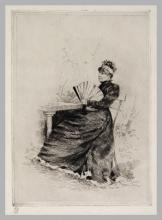 Giuseppe De Nittis, Contemplazione in giardino, XIX secolo, Stampa