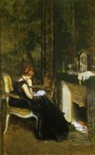Giuseppe De Nittis, Davanti al caminetto, 1869
