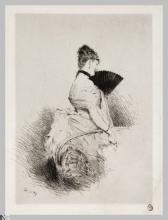 Giuseppe De Nittis, Dietro il ventaglio | Derriere l'éventail, seconda metà del XIX secolo, Stampa