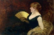 Giuseppe De Nittis, Donna con ventaglio, seconda metà del XIX secolo