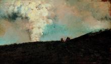 Giuseppe De Nittis, Un gruppo di curiosi sul Vesuvio, 1872, Dipinto, Collezione Balzan, Badia Polesine (Rovigo)