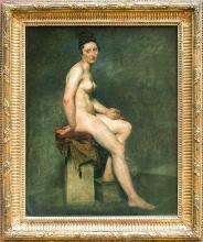 Delacroix, Nudo seduto [cornice].jpg