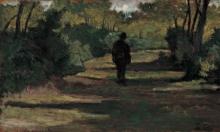 Giovanni Fattori, Uomo nel bosco (Studio), 1890 circa, Dipinto, Collezione Balzan, Badia Polesine (Rovigo), Italia