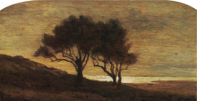 Antonio Fontanesi, [Paesaggio con alberi]