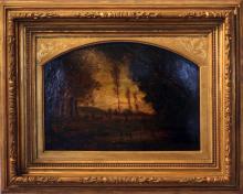 Antonio Fontanesi, Paesaggio, 1860, Raccolte Frugone, Genova