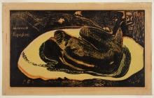 Paul Gauguin, Manao tupapau, 1895, Xilografia stampata su carta velina, cm. 24,6 x 39,4 (foglio)