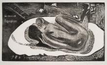 Paul Gauguin, Manao tupapau, 1893-1894, Xilografia stampata in nero su carta