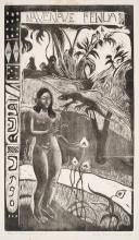 Paul Gauguin, Nave Nave Fenua (Bella terra), 1894-1895, Xilografia stampata in nero su carta, cm. 35,6 x 20,3