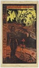Paul Gauguin, Nave Nave Fenua (Bella terra), 1893-1894, Xilografia stampata a colori su carta giapponese pesante, cm. 36,5 x 20,3