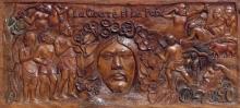Paul Gauguin, La Guerra e la Pace: la Guerra | La Guerre et la Paix: la Guerre | War and Peace: War,   1901, Legno di tamanu dipinto, cm. 44,45 x 99,53, Museum of Fine Arts, Boston, inv. n. 63.2764