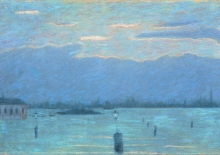 Vittore Grubicy de Dragon, Rio di Venezia, 1897-1907, Dipinto, Collezione privata